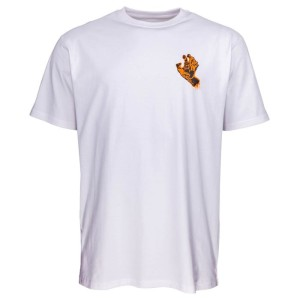 Santa Cruz - Crash Hand Tee - White