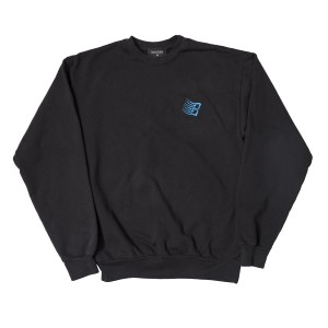 Bronze 56k - Embroided B Logo Crewneck - Black