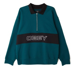 Obey - Baron Zip Polo - Teal