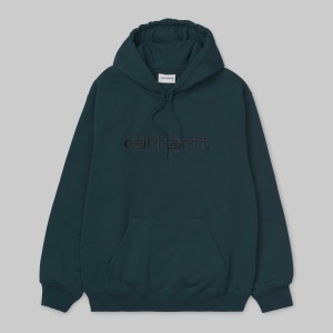 Carhartt - Hooded Carhartt Sweatshirt - Duck Blue / Black