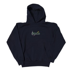 Bronze 56k - Embroided Smoke Hoodie - Navy