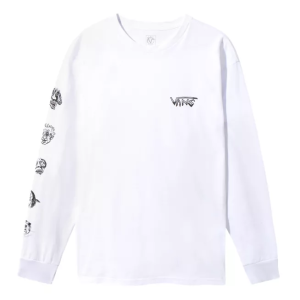 Vans - Rowan Faces L/S Tee - White
