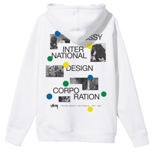 Stussy - Dot Collage Hood - White