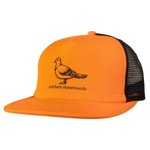 Antihero - Basic Pigeon Trucker Hat - Orange / Black