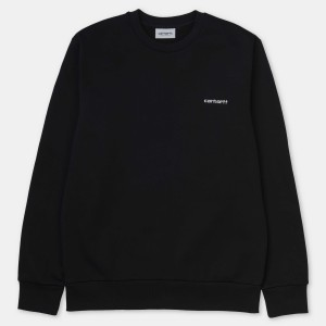 Carhartt - Script Embroidery Sweat - Black