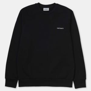 Carhartt - Script Embroidery Sweat - Black