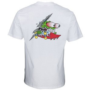 Santa Cruz - Slashed Tee - White