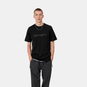 Carhartt WIP - s/s Script Tee - Reflective Black