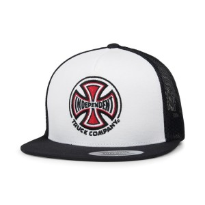 cappellini independent truck co mesh cap white black