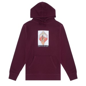 Fucking Awesome - Dill Mirror Painting Hoodie - Maroon