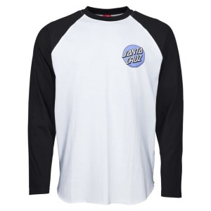 Santa Cruz - Rob Dot Baseball Tee - Black / White