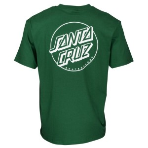 Santa Cruz - Opus Dot Stripe Tee - Evergreen