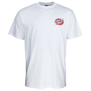 Santa Cruz - Bone Hand Tee - White