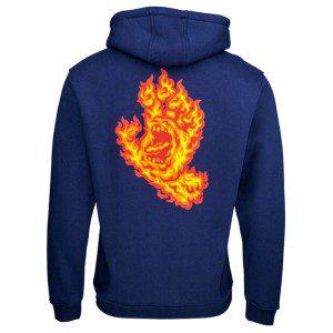 Santa Cruz - Flame Hand Hood - Dark Navy