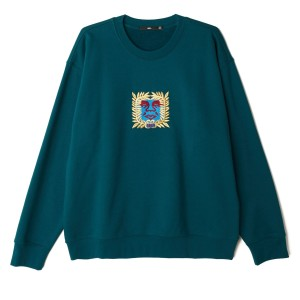 Obey - Atlantic Crewneck - Deep Teal