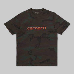 Carhartt - Script Tee - Evergreen / Orange