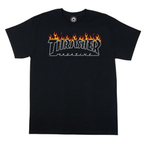 Thrasher - Scorched Tee - Black