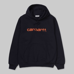 Carhartt - Hooded Carhartt Sweatshirt - Dark Navy