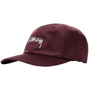 Stussy - Lined Nylon Low Pro Cap - Berry