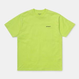 Carhartt - Script Embroidery Tee - Lime