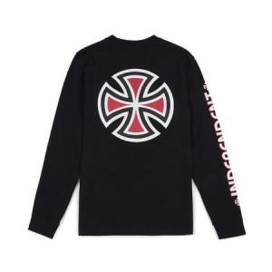 t shirt independent bar cross ls t shirt black