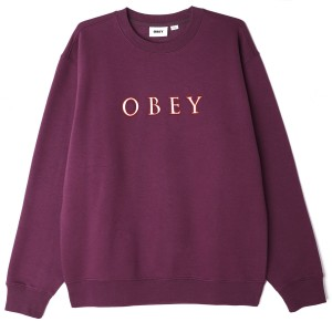 Obey - Curtis Crewneck - Berry