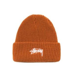 Stussy - Stock Cuff Beanie - Burnt Orange