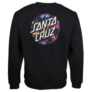 Santa Cruz - Splatter Crewneck - Black