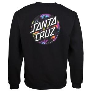 Santa Cruz - Splatter Crewneck - Black