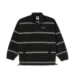 Polar - Striped Pullover Fleece - Black