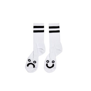 Polar - Happy Sad Socks - White