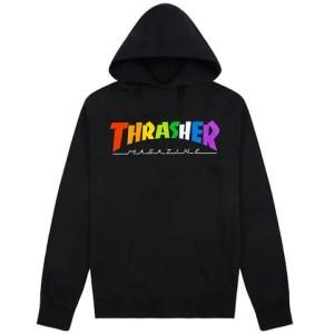 Thrasher - Rainbow Mag Hoodie - Black