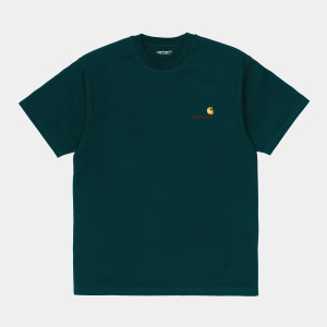 Carhartt WIP - American Script T-Shirt - Deep Lagoon