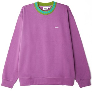 Obey - Jacquard Crew - Purple