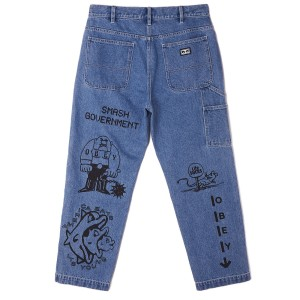 Obey - Hardwork Printer Carpenter - Light Indigo