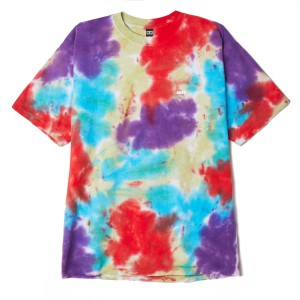 Obey - Bold Heavyweight Blotch Tee - Oxi Fire