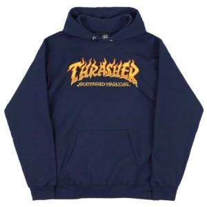 Thrasher - Fire Logo Hoodie - Navy