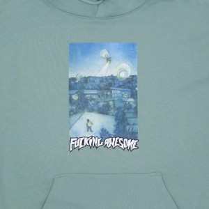 Fucking Awesome - Helicopter Hoodie - Teal