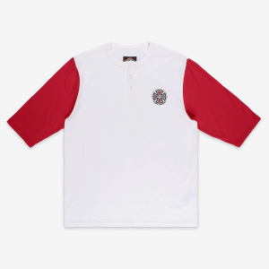 Independent - Henley 3/4 Tee - White / Red