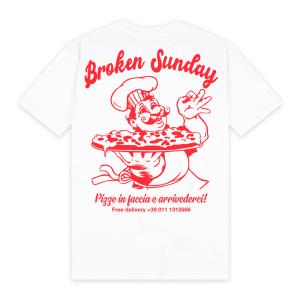 Broken Sunday - Pizze In Faccia Tee - White