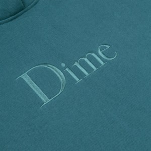 Dime - Classic Embroidered Hoodie - Teal